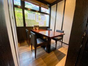 個室になるテーブル席2