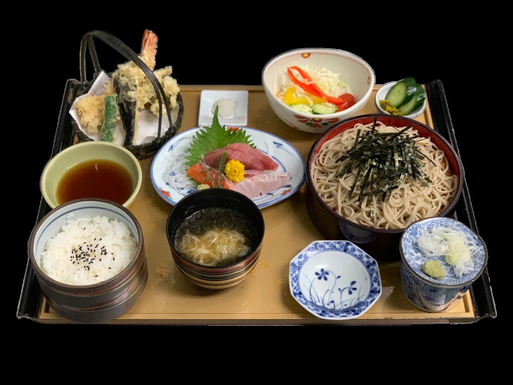 天ぷらとお刺身の御膳